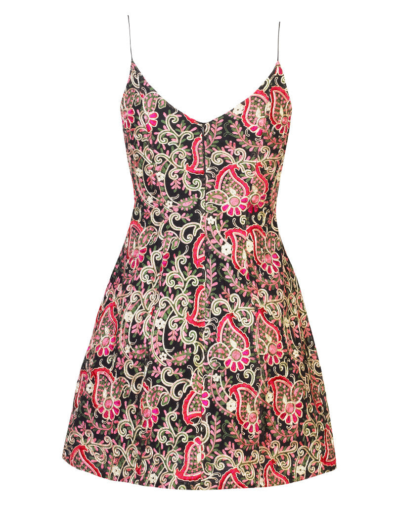 Laura Bell Floral Embroidered Dress