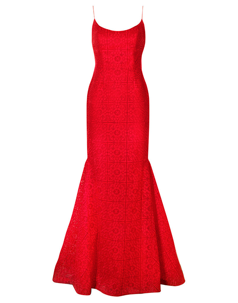 Louisa Scoop Neck Gown