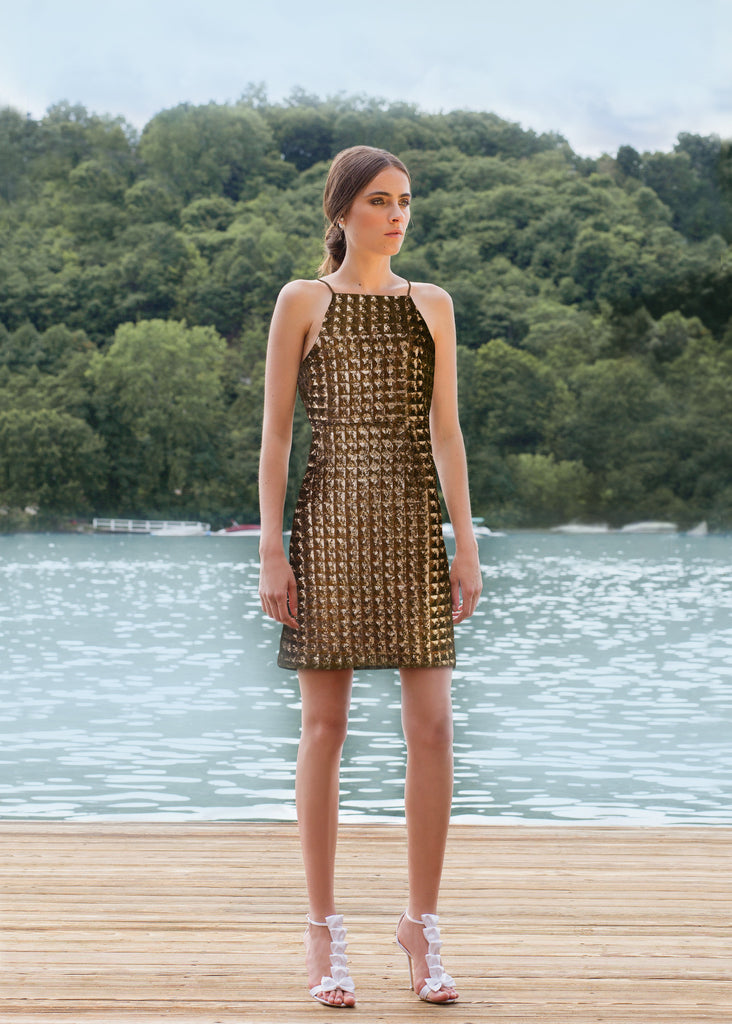 Jenna Gold Armor Sequin Dress