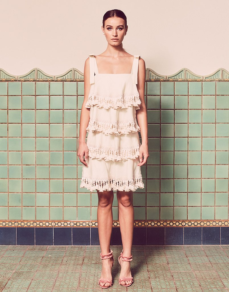 Palma 4 Tiered Tassel Dress