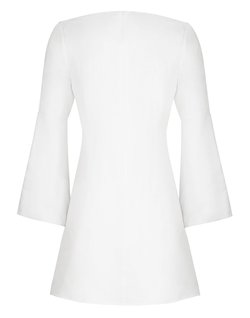 SAMBRADO EMBROIDERED CAMISA BELL DRESS