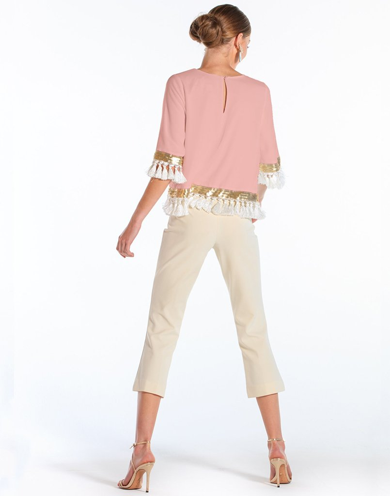 Shimmy Shimmy Tassel Top