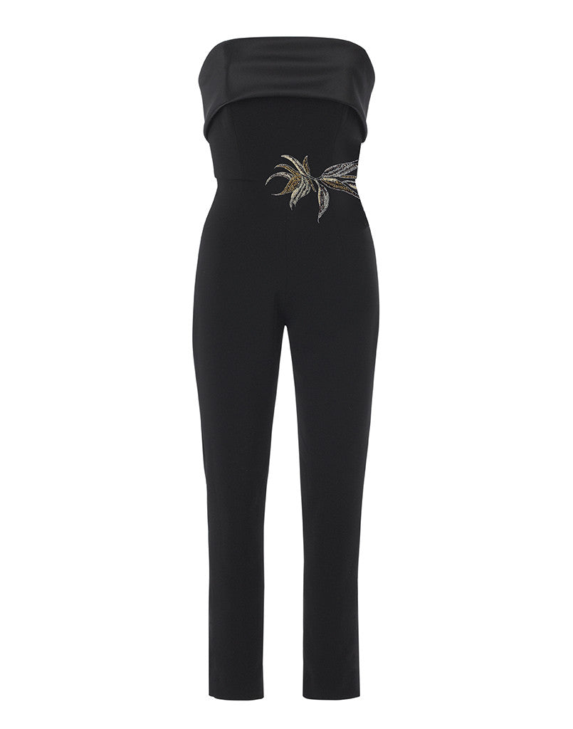 Birds of Paradise Strapless Stretch Jumpsuit - SAMPLE