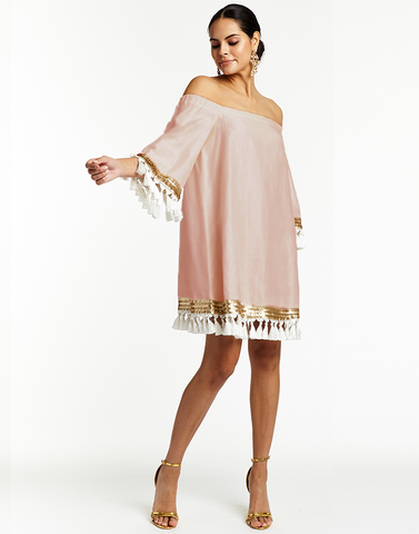 La Herminia Habi Top with Embroidery