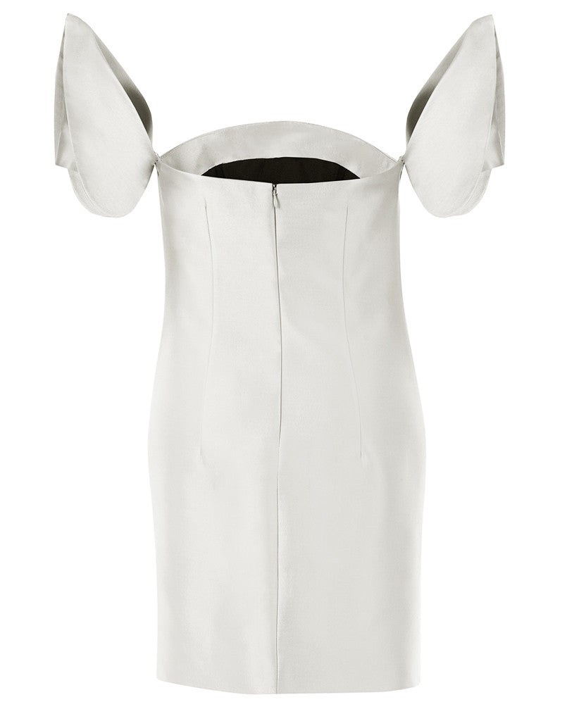 Pearl White Embellished Terno Mini Dress