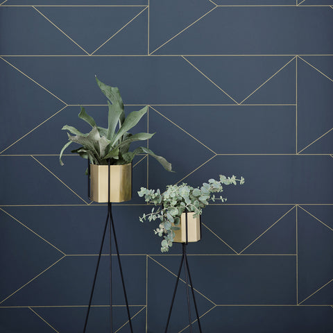 X-Large Hexagon Pot in Brass by Ferm Living - Made Modern - 2