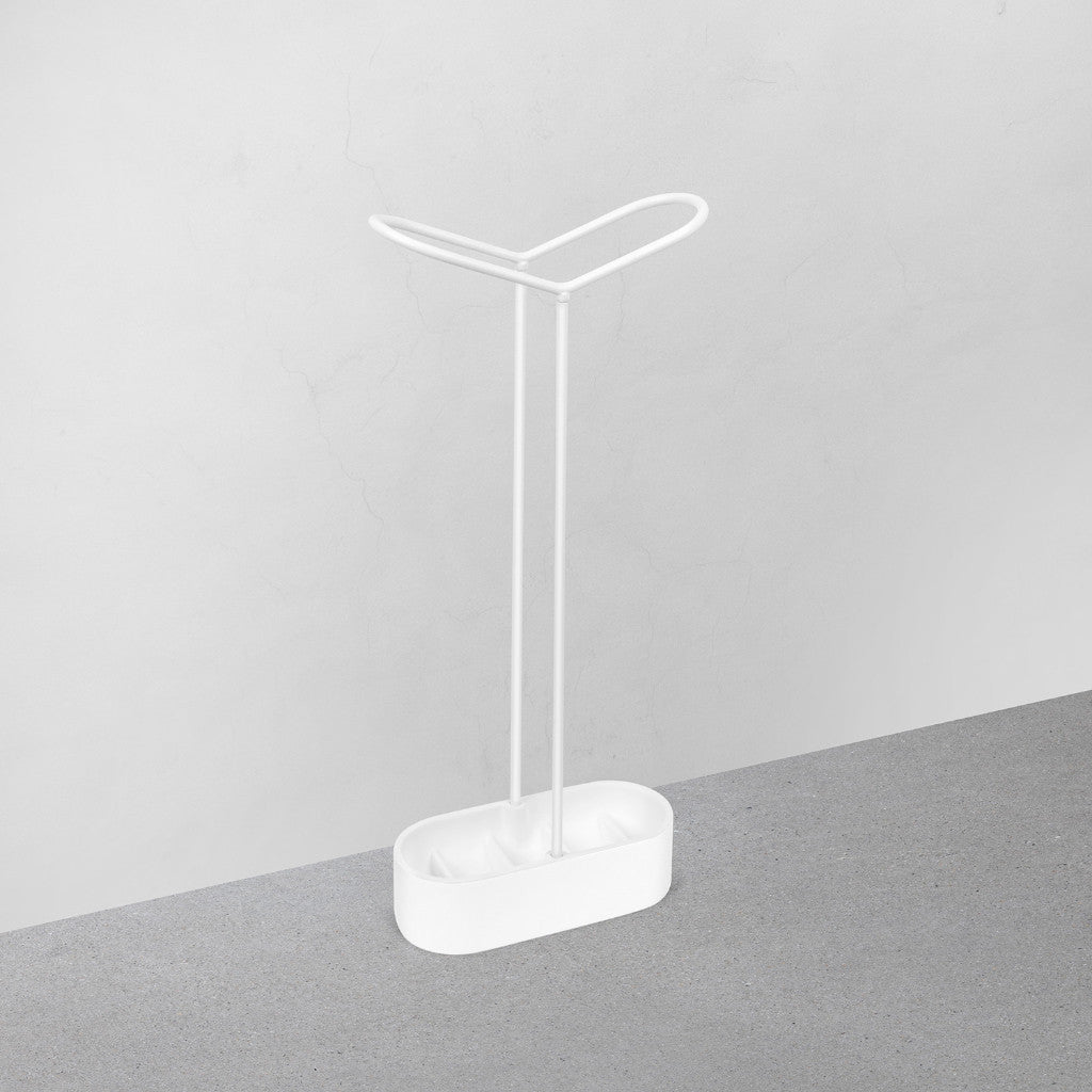 Holdit Umbrella Stand in White by Umbra