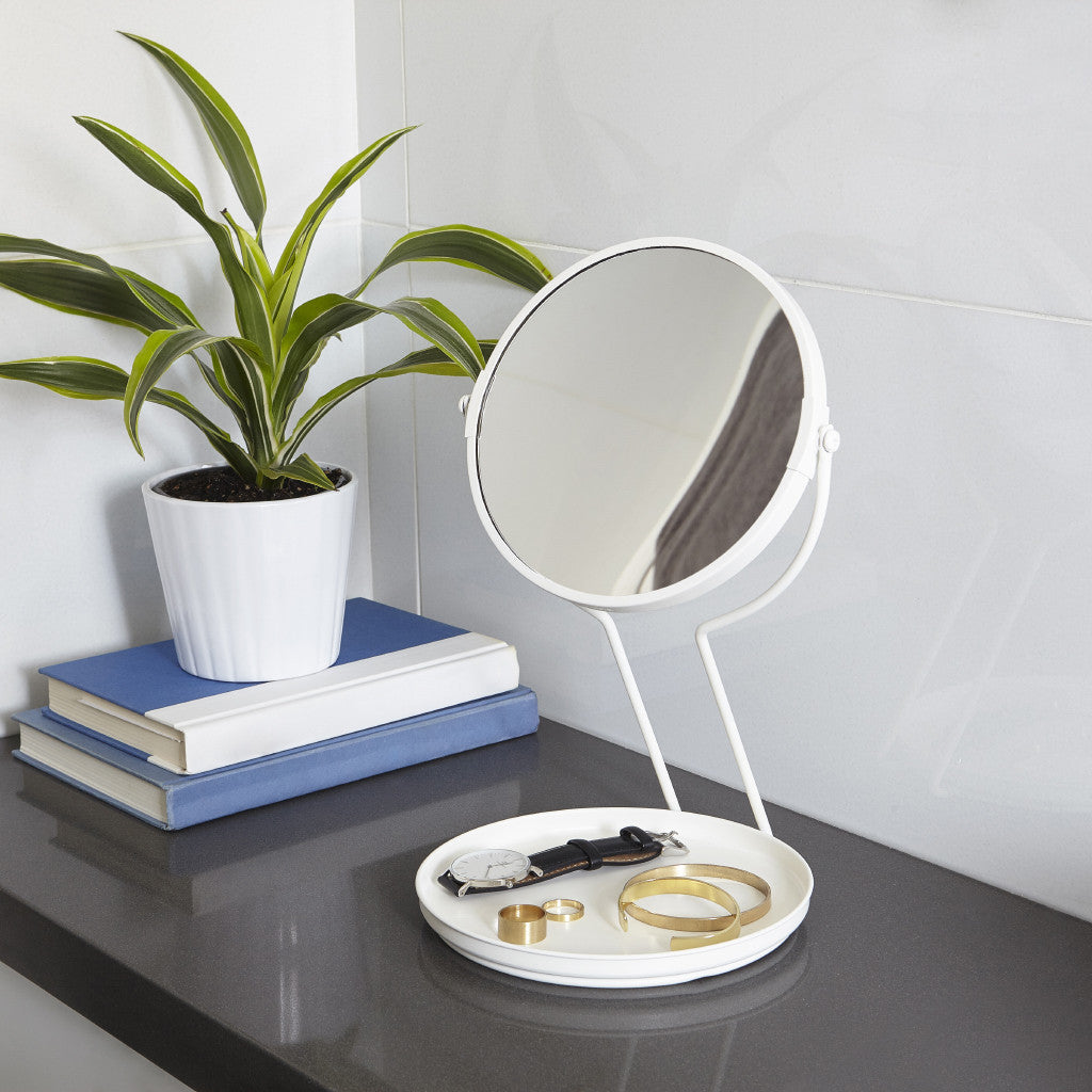 See Me Mirror in White by Umbra