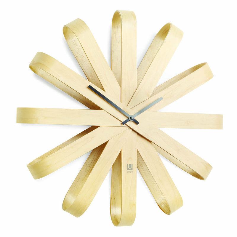 Ribbonwood Wall Clock by Umbra - Made Modern
