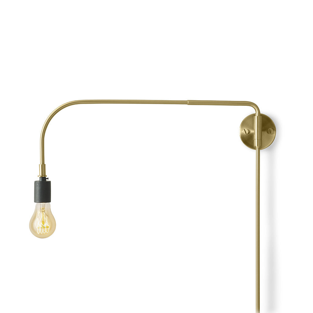 Tribeca Warren Wall Light in Brass by Menu - Made Modern - 1