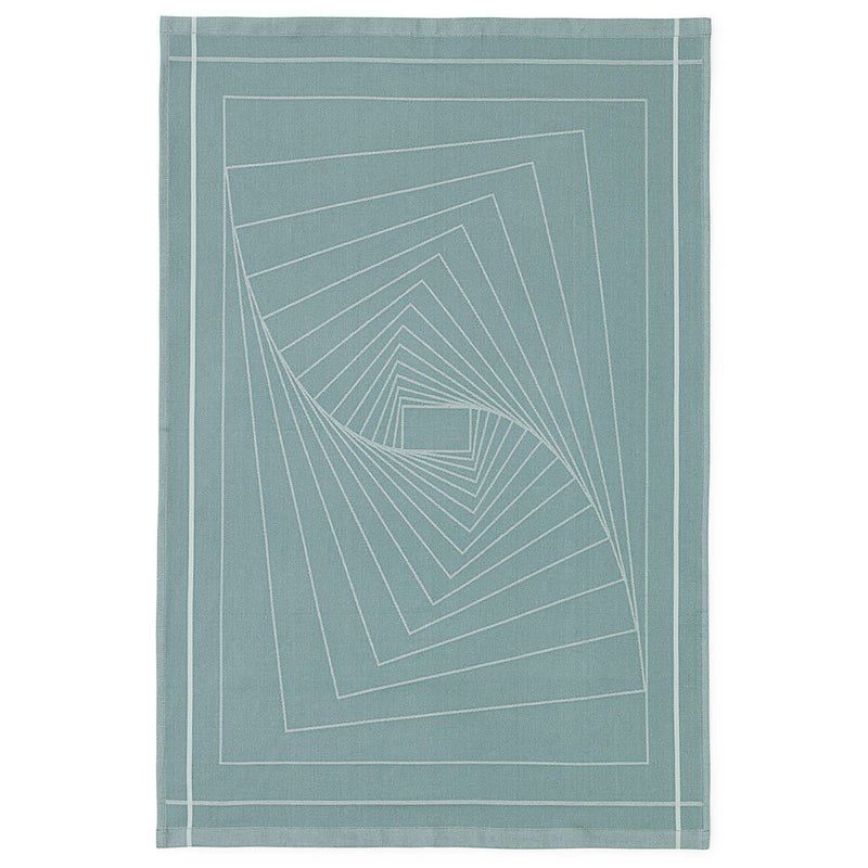 Illusion Tea Towel in Turquoise by Normann Copenhagen - Made Modern - 1