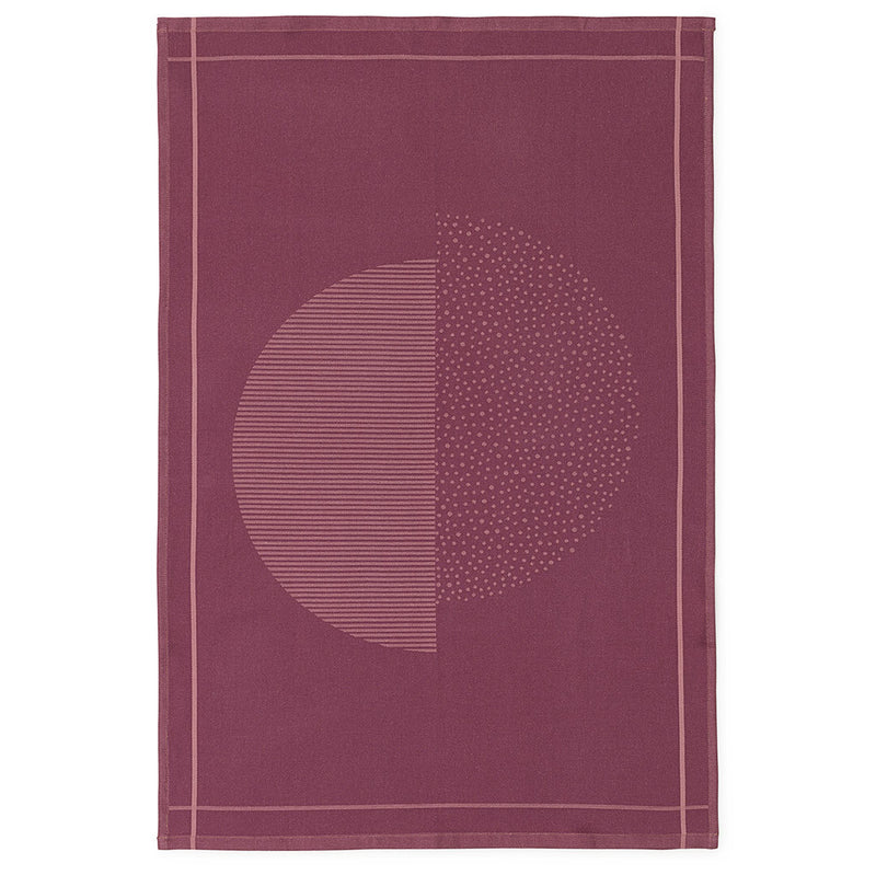 Illusion Tea Towel in Burgundy by Normann Copenhagen - Made Modern - 1
