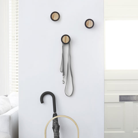 Hub Hook Set in Black by Umbra - Made Modern - 2