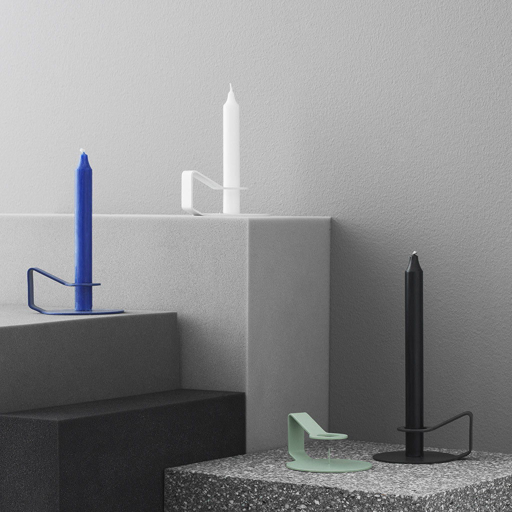 Nocto Candlestick in Mint by Normann Copenhagen - Made Modern - 2