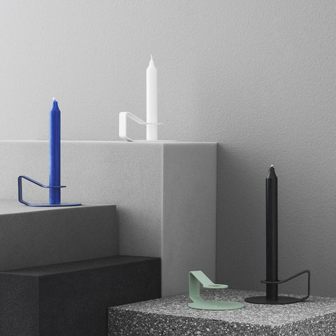 Nocto Candlestick in Black by Normann Copenhagen - Made Modern - 2
