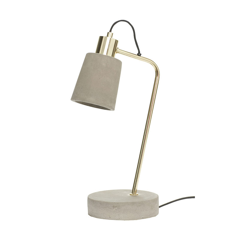 Concrete and Brass Table Light by Husbch - Made Modern