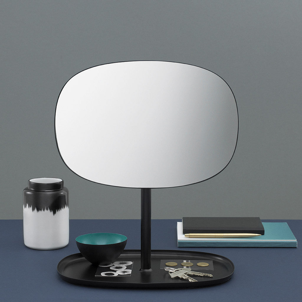 Flip Mirror in Black by Normann Copenhagen - Made Modern - 5