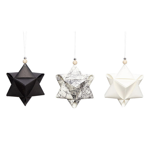 Christmas Star Ornaments - Set of 3 - by Hubsch - Made Modern