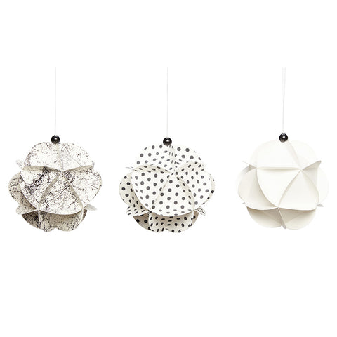 Christmas Ball Ornaments - Set of 3 - by Hubsch - Made Modern
