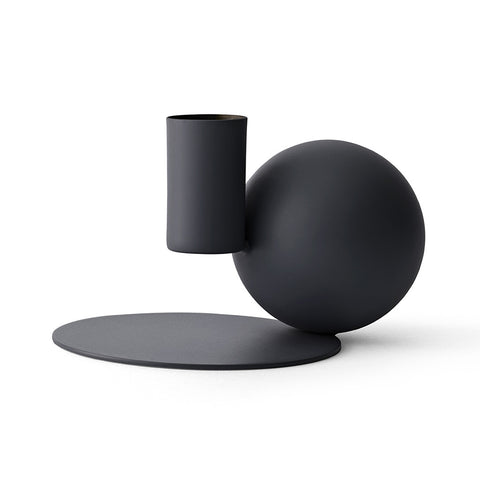Optical Candle Holder in Black by Menu - Made Modern - 2
