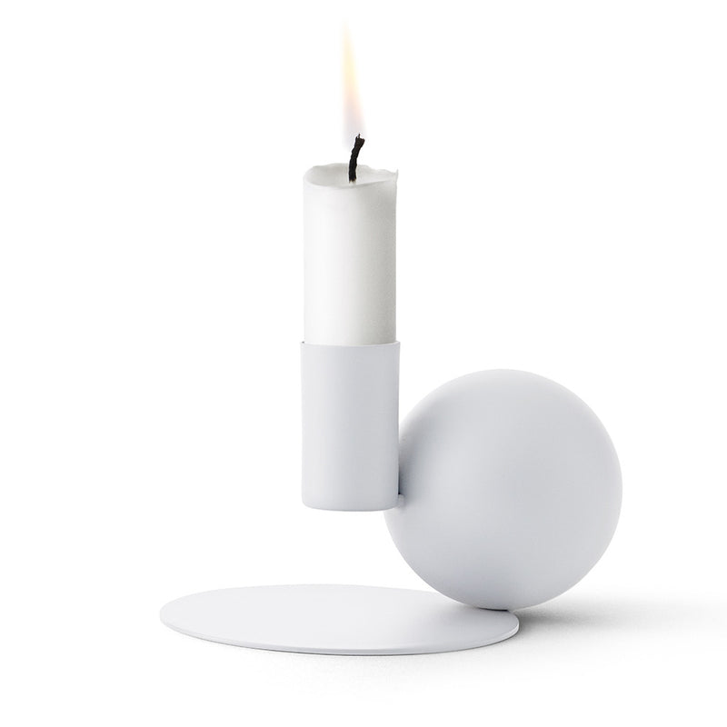 Optical Candle Holder in White by Menu - Made Modern - 1