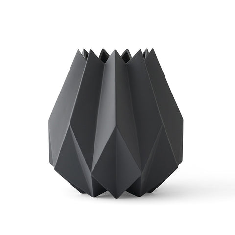 Tall Folded Vase in Carbon by Menu - Made Modern