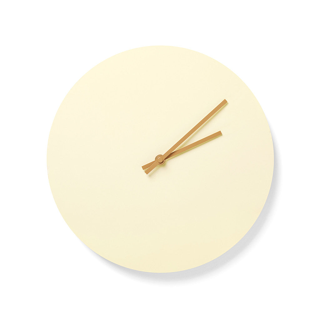 Norm Steel Clock in Yellow by Menu - Made Modern