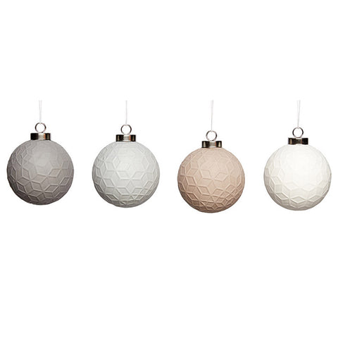 Christmas Ball Ornaments - Set of 4 - by Hubsch - Made Modern - 1