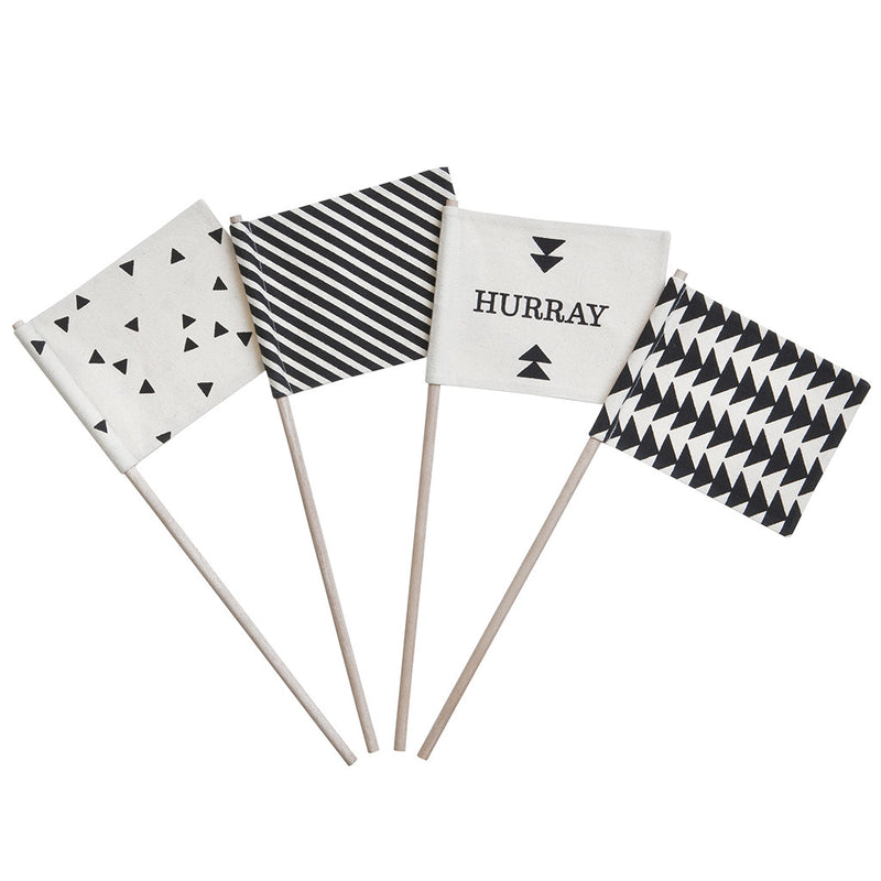 Set of 4 Hurray Flags by Ferm Living - Made Modern - 1