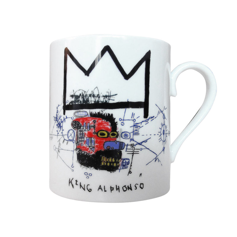 """King Alphonso"" Jean-Michel Basquiat Porcelaine Mug by Ligne Blanche Paris - Made Modern"
