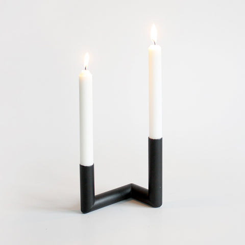 Pipeline Candle Holder in Black by Nur - Made Modern - 2