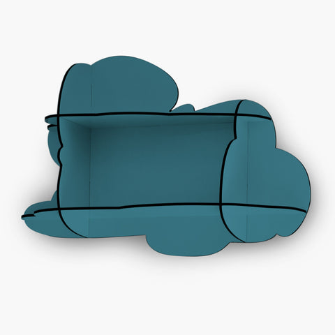 Small Cloud Wall Shelf in Petrol Blue by ibride