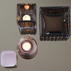 Holger Tea Light in Copper by Louise Roe - Made Modern - 2