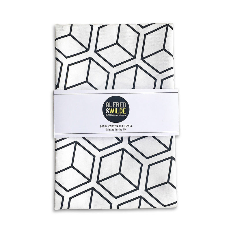 Cube Tea Towel by Alfred & Wilde - Made Modern - 1