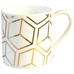 Gold Cube Mug by Alfred & Wilde - Made Modern - 2
