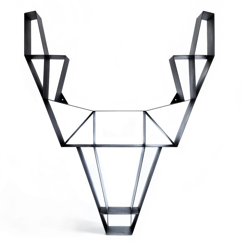 Small Deer Shelf in Charcoal Black by BEdesign - Made Modern - 2