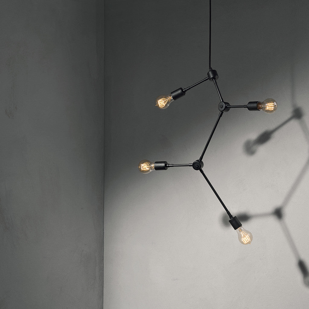 Tribeca Franklin Chandelier in Black by Menu - Made Modern - 2