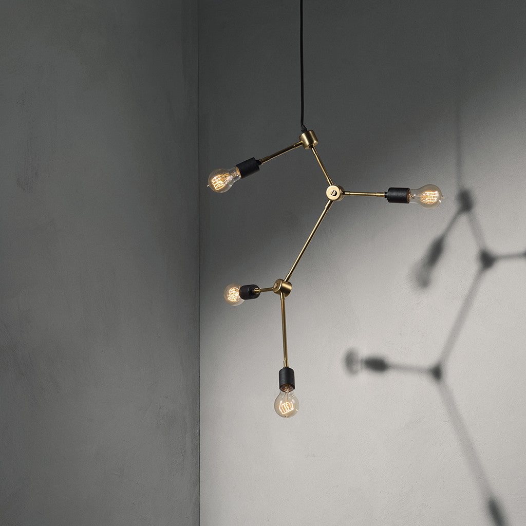 Tribeca Franklin Chandelier in Brass by Menu - Made Modern - 2