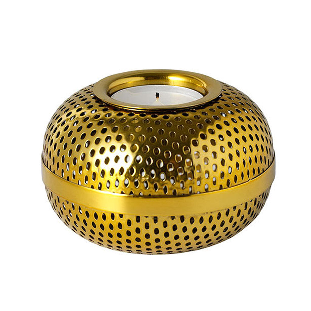 Holger Tea Light in Brass by Louise Roe - Made Modern - 1