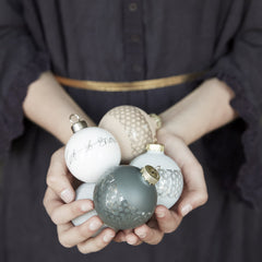 Christmas Ball Ornaments - Set of 3 - by Hubsch - Made Modern - 2
