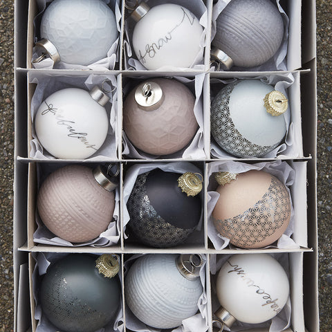 Christmas Ball Ornaments - Set of 4 - by Hubsch - Made Modern - 2