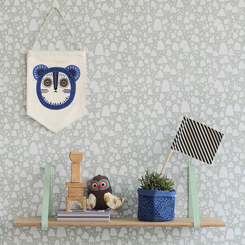 Billy Bear Wall Flag in Blue by Ferm Living - Made Modern - 2