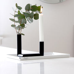 Pipeline Candle Holder in Black by Nur - Made Modern - 1
