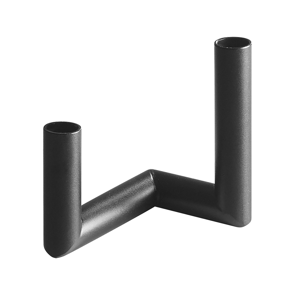 Pipeline Candle Holder in Black by Nur - Made Modern - 7