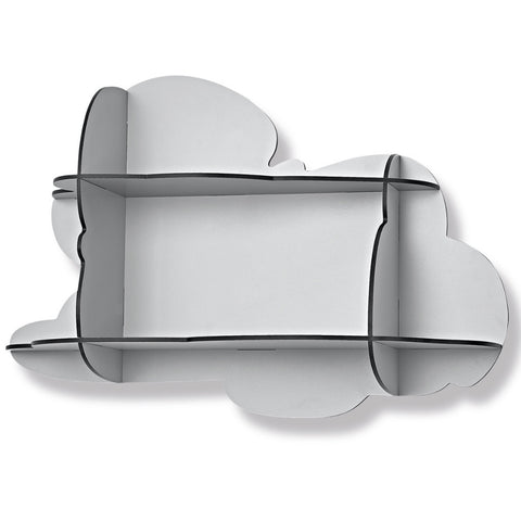 Small Cloud Wall Shelf in White by ibride