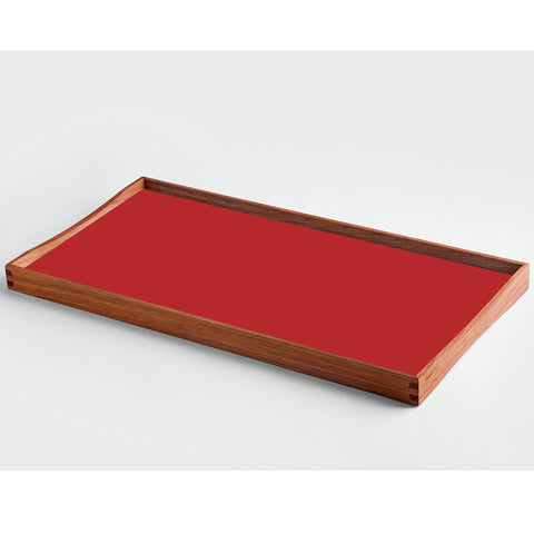 Small Turning Tray in Black and Red by ArchitectMade - Made Modern - 1