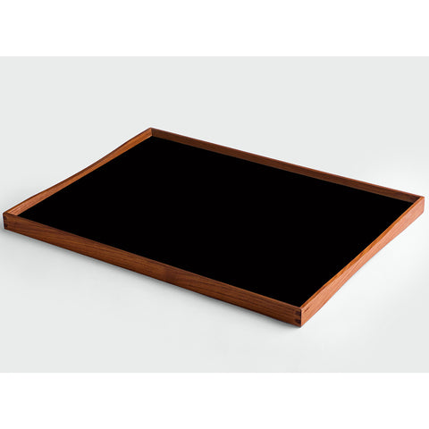 Large Turning Tray in Black and White by ArchitectMade - Made Modern - 2