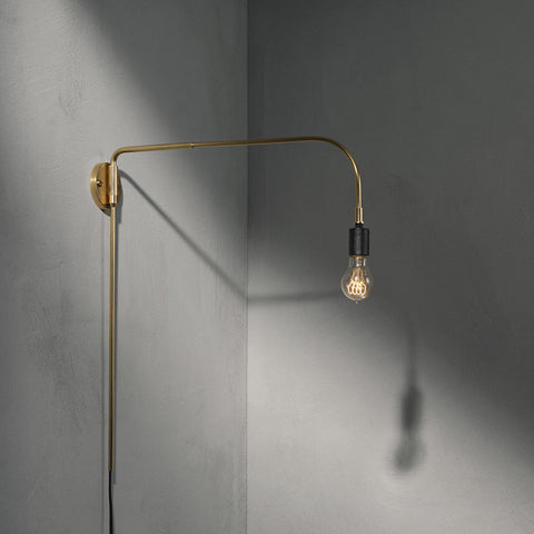 Tribeca Warren Wall Light in Brass by Menu - Made Modern - 2
