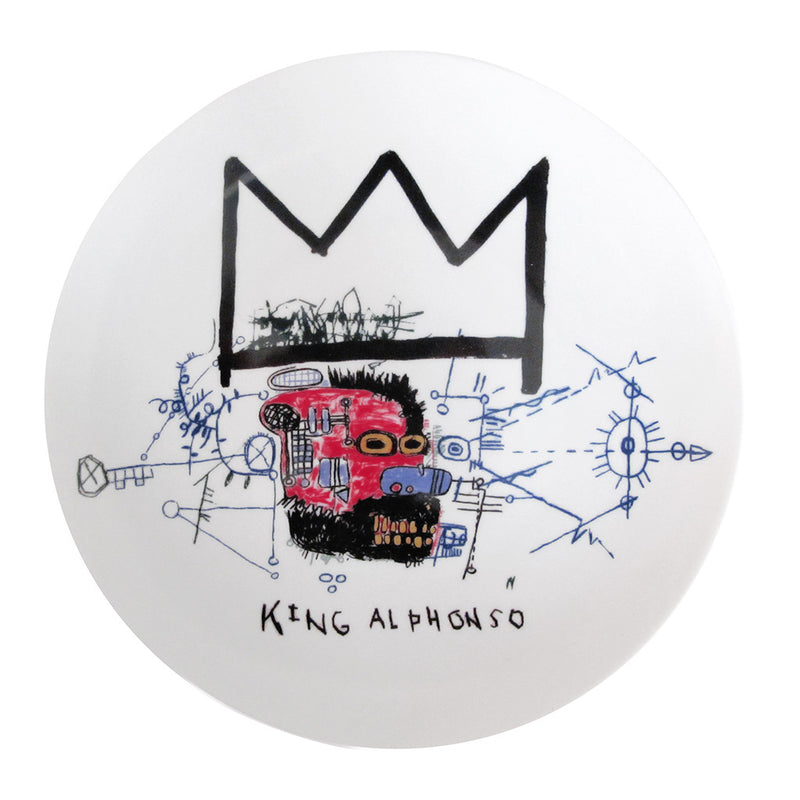 """King Alphonso"" Jean-Michel Basquiat Plate by Ligne Blanche Paris - Made Modern"