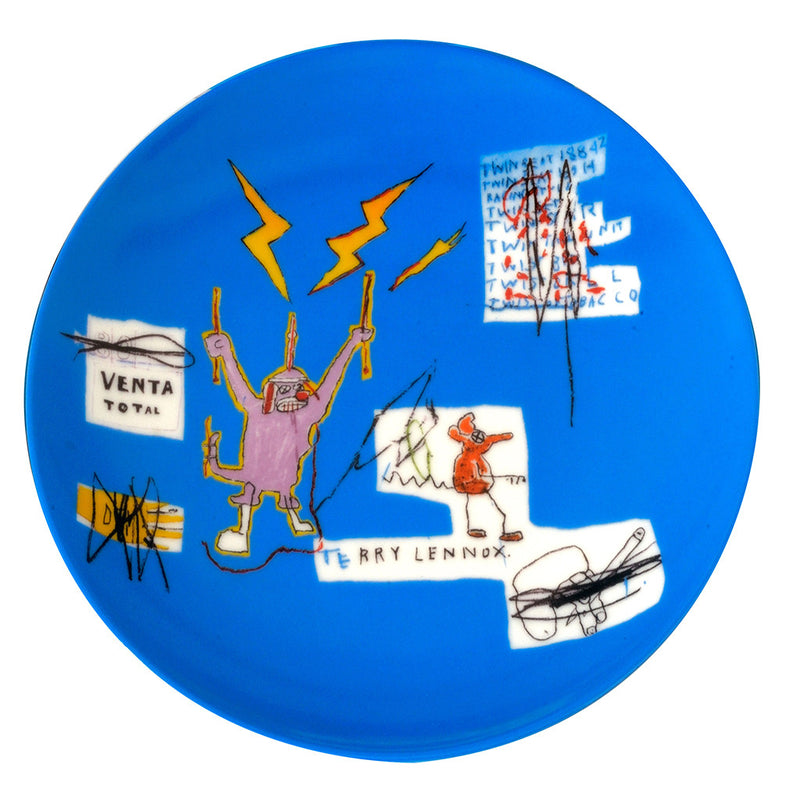 """Venta"" Jean-Michel Basquiat Plate by Ligne Blanche Paris - Made Modern"